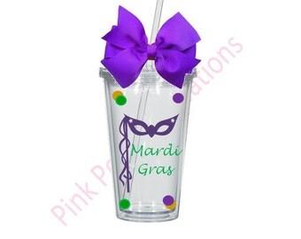 Mardi Gras Tumbler, Mardi Gras, Mardi Gras Cup