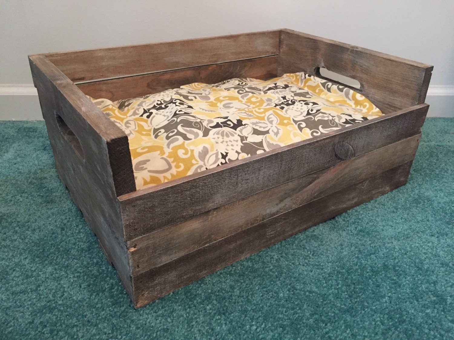 Reclaimed wood dog bed for Wood dog bed furniture