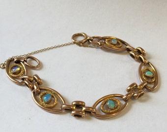 Gold Edwardian Opal Bracelet