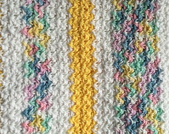 Made to Order Crochet Baby Blanket- straight lines pattern