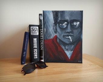 James Dean Inspired Original Acrylic Painting
