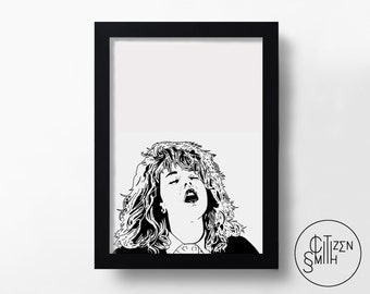 WHEN HARRY Met SALLY - I'll Have What She's Having - Meg Ryan - Rob Reiner - Hand-Drawn Film Art Print/ Movie Poster