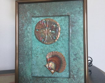 Copper Sea Shell Art