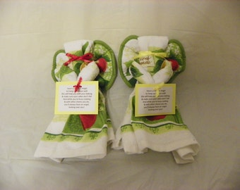 Apple Themed Kitchen Towel Angel Wall Hanging