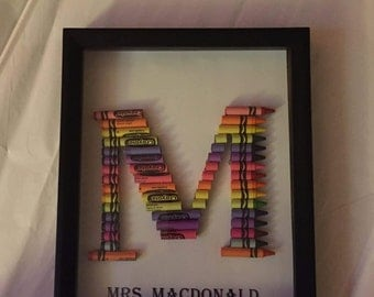 Crayon Monogram Letters