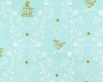 Wee Sparkle by Michael Miller - Free Bird Mist - Cotton Woven Fabric - CLEARANCE