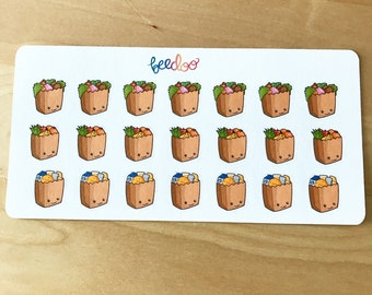 Grocery Bags Planner Stickers