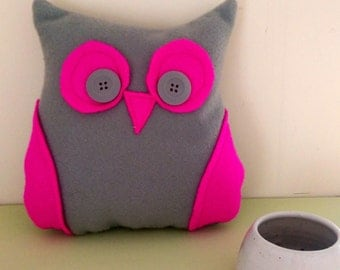 Stuffed owl teddy, Stuffed owl decor, Small owl cushion, Owl soft toys, Owl plushie, Gifts for owl lovers, Home warming gifts, home decor
