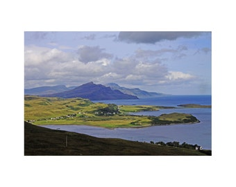 The Braes from Glamaig, Skye Photograph