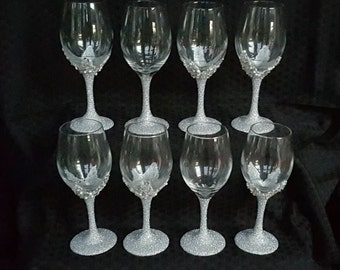 Beaded Wine Glasses