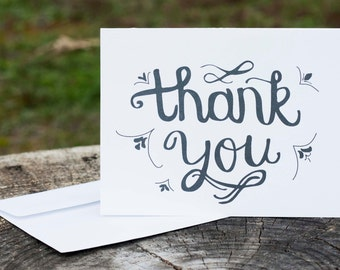 Thank You Card | Screenprinted Card | Hand Illustrated Card | Blank Handmade Card
