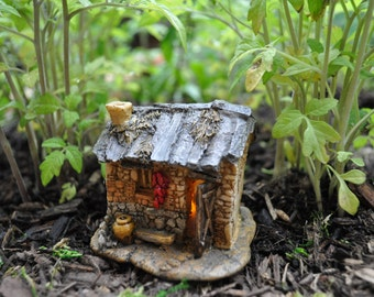 Fairy House With Light, Fairy Garden Miniatures+Fairy Garden Supplies+Fairy Garden Accessories+Fairy Garden Figurine
