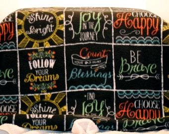 Anti-Pill Fleece Inspirational Blanket
