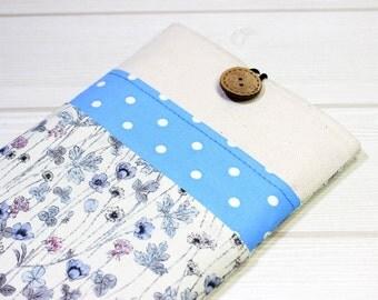 7 inch tablet sleeve, iPad mini 4 case, iPad mini sleeve, 6 inch tablet case, polka dot iPad case, unique kindle case, floral iPad mini case