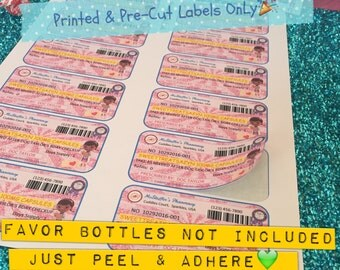 Prescription LABELS Only Printed & Pre-Cut — Doc McStuffins Inspired