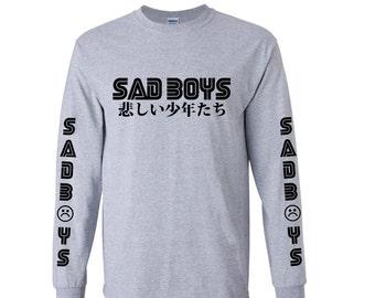 Sad Boys by  DopePremium Vintage Very Rare Gray Long Sleeve  1 d21ccd4cd8f7