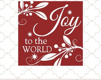 SVG Joy to the World PNG EPS digital