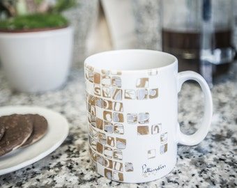 Gold Mosaic Mug