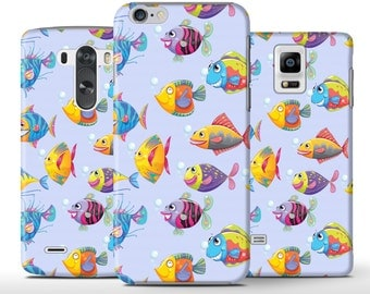 Cutel Colored Funny Smiling Fish Art Hard Case - iPhone 5 5s 5c 6 6+ Plus Samsung Galaxy S6 S4 S5 Note 3 4 Sony Xperia Z Z1 Z2 Z3 Lg G3