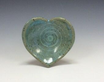 Handmade Heart Shaped Ceramic Ring/Jewelry Dish