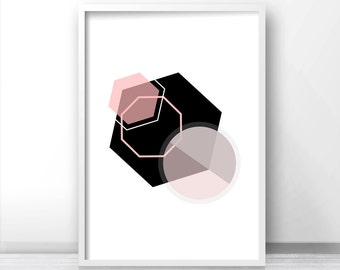 Wall Art Printable, Geometric Art Print, Digital Download Art, Instant Download Digital Print, Modern Print Download, Modern Wall Art Print