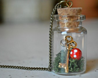 Alice in Wonderland Inspired Bottle Necklace