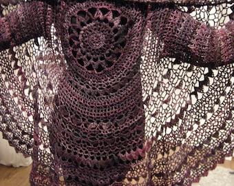 "Crochet Pattern PDF Circular Jacket Häkelanleitung ""Flora"""