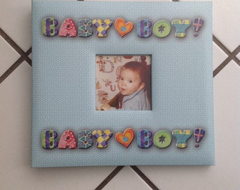 """Boy Scrapbook Album ( for 8"""" X 8"""" page layouts)"""