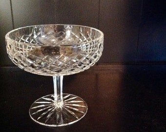 Crystal Compote with Diamond Pattern