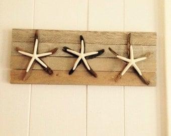 Driftwood Starfish Wall Hanging