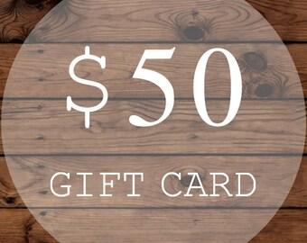 Christmas Gift Certificate | Gift Card | 50 Dollars | WiscoFarms | Christmas Gift | Wedding Gift | Birthday Gift