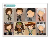The Walking Dead Full Box Planner Stickers
