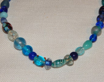 Large Blue Glass Necklace