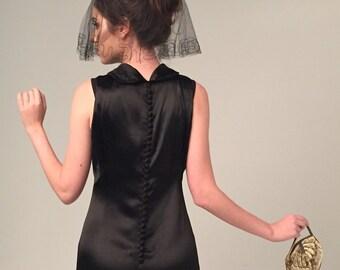 1920s vintage heavy silk satin evening gown