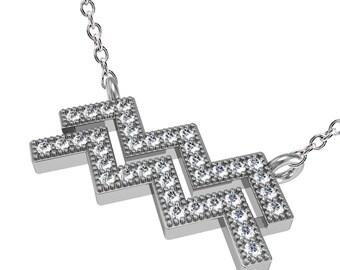 Aquarius Constellation Necklace Sterling Silver, Aquarius Necklace, Zodiac Necklace, Zodiac Jewelry