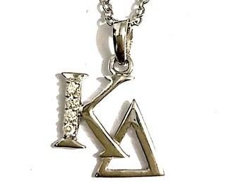 Kappa Delta Lavalier, Sterling Silver (KD-P007)
