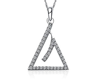Triangle Necklace - Sterling Silver (M020)