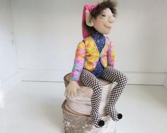 Elf Art Doll, Cloth Elf, Pixie Doll