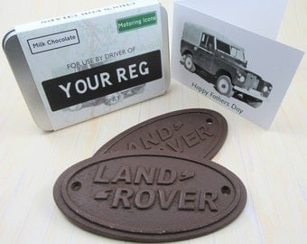 Land Rover gift idea  - with gift card and personalised