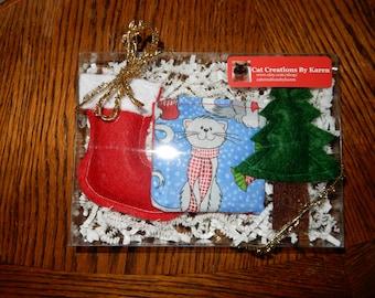 Christmas catnip toys