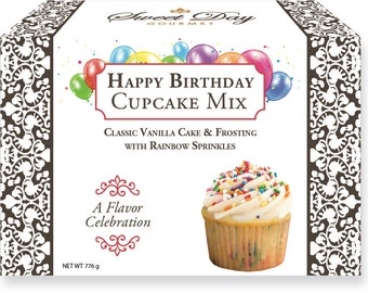 Happy Birthday Cupcake Mix w/Vanilla Frosting