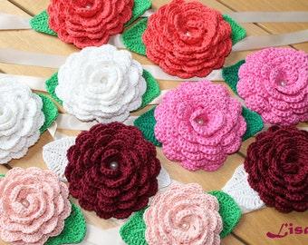 Rose stops tent crochet