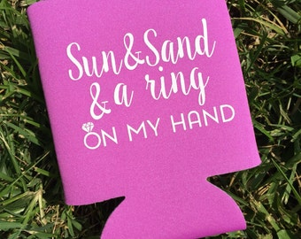 Sun and Sand Beach Bachelorette Party Can Cooler