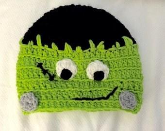 Crocheted Frankenstein Hat