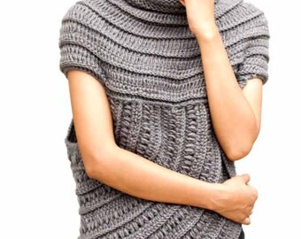 One Sided High Neck Sweater