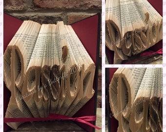 Passion Book Sculpture, folded book art