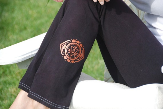 Black Yoga Pants Hand Dyed from The ArtiZan Collection with Optional Hand Painted Design by Splash Dye Activewear