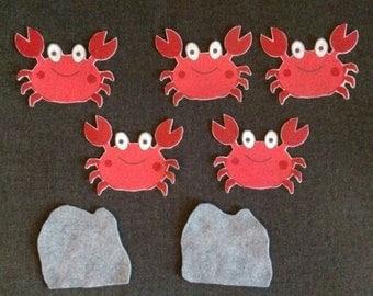 5 Crabs Felt Board Story // Flannel Board // Imagination // Children  //