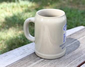 Vintage Half Liter Hofbrauhaus Munchen Ceramic Beer Mug or Stein - Made in Western Germany
