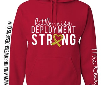Little Miss Deployment Strong Hoodie